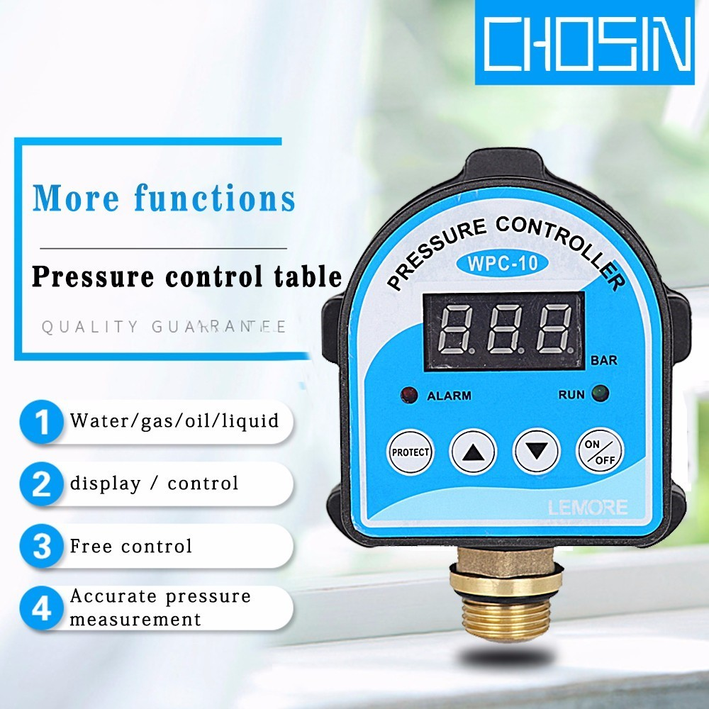 Automatic Air Pump Water Oil Compressor Pressure Switch Digital Display Eletronic Pressure Controller For Water Pump