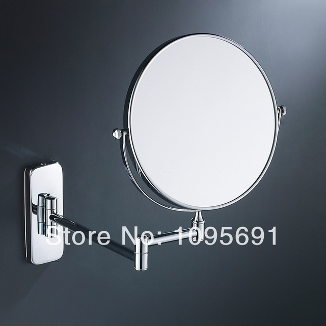 "8"" dual Makeup mirrors 1:1 and 1:3 magnifier Copper Cosmetic Bathroom Double Faced Bath Mirror"