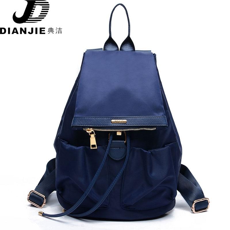 2017 Fashion Women Backpack Casual Leather Nylon Backpack for Teenage Girl Travel Bag Women Bag Shoulder