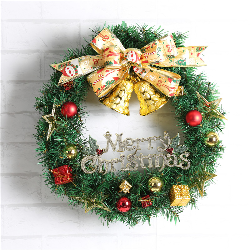 1pc Christmas Wreath Garland Hanging Pendant Decor Window Door Ceiling Decorations Christmas Tree Ornament Wall Decals Wreath