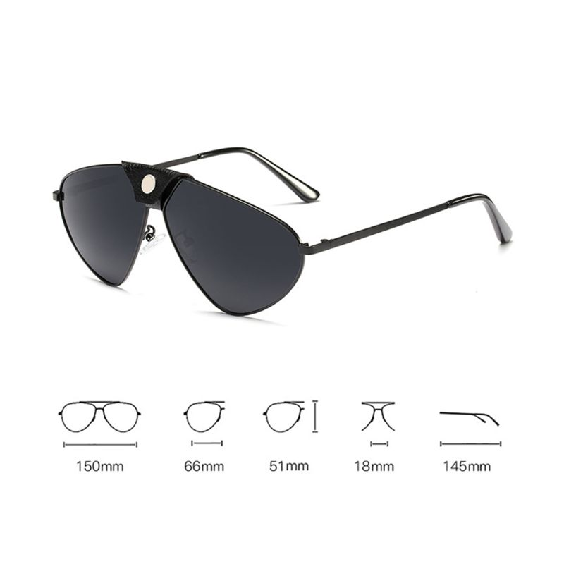 c93ee1a7a0 Personality Polarized Sunglasses Metal Frame Unisex Charms Sun Glasses  Outdoor Fashion UV400 Women Men Sunglasses-in Men s Sunglasses from Apparel  ...
