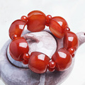 Natural Red Agate Green Jade Bracelets Wholesale Carved Green Jade For Men and Women fashion jade jewelry
