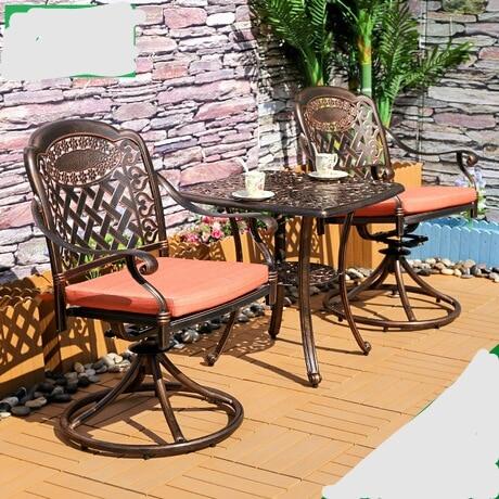 US $1737.77 8% OFF Garden Set Outdoor Furniture garden furniture patio  furniture salon de jardin exterieur Cast aluminum 1 table+2 chairs set  hot-in ...