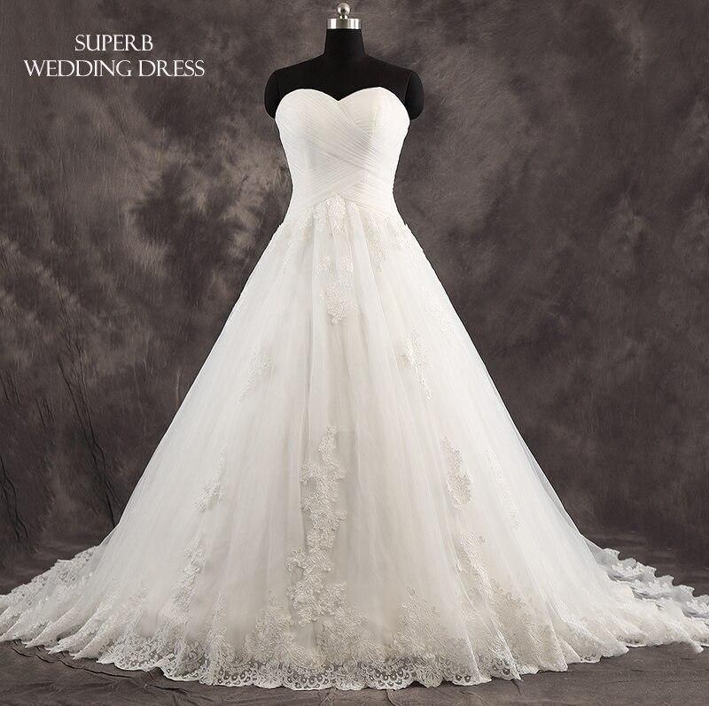 High Quality Wedding Dress Sweetheart Neckline Bridal Gown Dresses For Bride Superbweddingdress