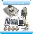 Бесплатная доставка DIY батареи RFID Электронные дверные замки безопасности Противоугонный замок множественный страховой замок с батарейным ...