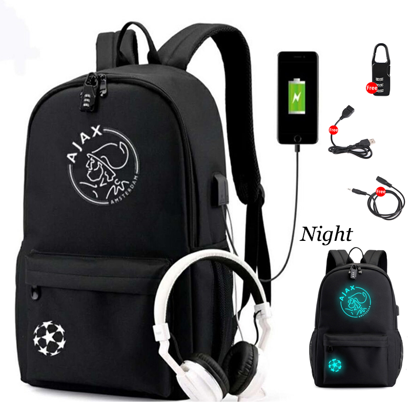 2019 New AJAX Student Backpack With USB Charging And  Anti Theft Features Backpack For Boys Girl Back To School Canvas Backpack
