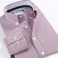 Smart Five Men Shirt  Turn Collar Long Sleeve Cotton Patterns Striped Shirts Men Shirt 2016 Slim Fit Camisa Masculina 5XL