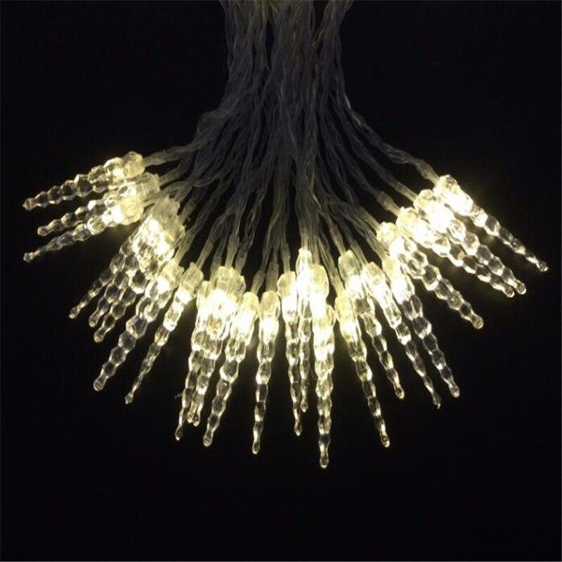 10М 50LED кристал сосулька рядка світло - Святкове освітлення - фото 3