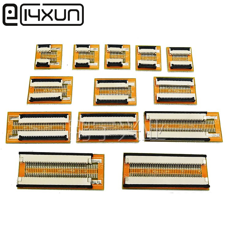 EClyxun 1pcs Flexible Flat Cable FFC FPC Extension PCB Pitch 1.0 Mm 4 5 6 8 10 15 16 20 24 30 32  40Pin
