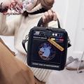 Милый мультфильм шаблон Единорог окно формы пу повседневные сумки женские сумки сумка партия кошелек crossbody сумка 4 цвета