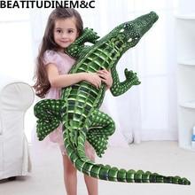 Моделирование Большой Крокодил плюшевая игрушка креативный Холдинг Спящая кукла бар подушка кукла-Акула