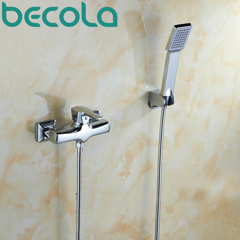 Free shipping becola Bathtub Faucet Chrome Finish Shower Set Wall Mounted shower faucet kit B-9607Free shipping becola Bathtub Faucet Chrome Finish Shower Set Wall Mounted shower faucet kit B-9607