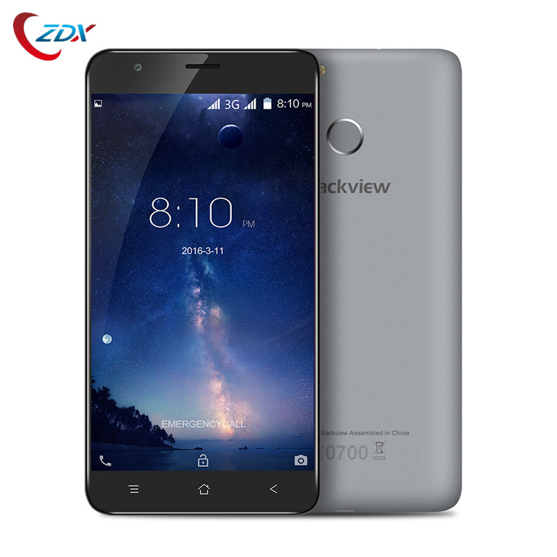 Цена за Blackview E7 \ E7S Мобильный Телефон 3 Г GPS Android 6.0 MTK6580 Quad Core 2 ГБ RAM 16 ГБ ROM Сотовые Телефоны Fingprint ID Разблокирована смартфон