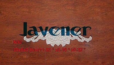 N30 -30x8x0.8cm Wood Carved Long Onlay Applique Flower Frame Door Decal Working Carpenter Rose