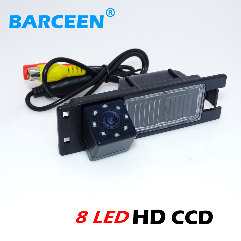 Adapt For Opel Astra H /Corsa D/ Meriva A /Vectra C/Zafira B/FIAT Car Rearview Camera 170 Lens Degree +wire +8 Led +rainproof