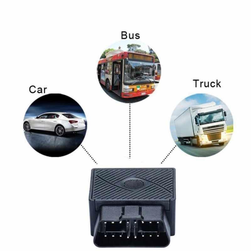 Mini Plug Bermain OBD Gps Pelacak Mobil GSM OBDII Alat Pelacak Kendaraan OBD2 16 PIN Antarmuka X2