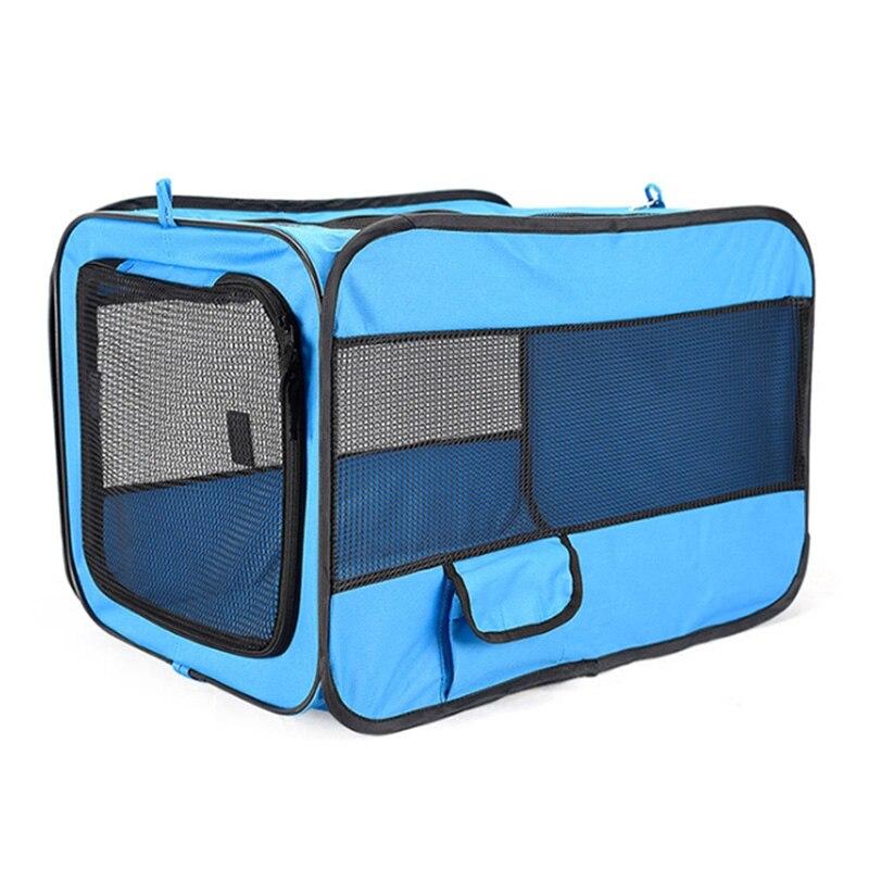 S M L 600D Oxford accessoires de voyage pour animaux de compagnie pour chiens chats transporteurs pliable Portable Cage pour animaux de compagnie tente chenil avec tapis en plein air