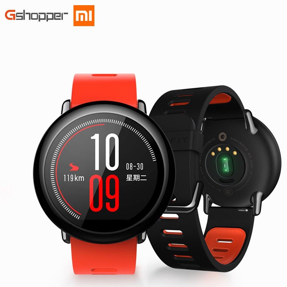 imágenes para Original Xiaomi Huami Reloj Ritmo AMAZFIT Bluetooth 4.0 Deportes Inteligente Reloj de Cerámica del Zirconia Del Corazón Rate Monitor wifi andrio iso
