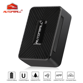Portable Mini GPS Tracker Car 2G Vehicle Tracker GPS Locator 1500mAh Waterproof Magnet Voice Monitor Free Web APP PK TK905 GPS
