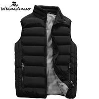 WEINIANUO 2017 New Waistcoat Casual Vest Coat Men Sleeveless Vest Winter Male Top Quality Men S