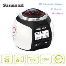 Camara deportiva 360 Panoramique Vidéo Caméra 4 K Résolution @ 30fps, Creat votre 3D Vidéo et images jamais été si Simple 360 Caméra