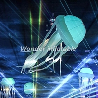 Wholesale 3m charming lighting inflatable led jelly fish balloon for stage and nightclub decoration
