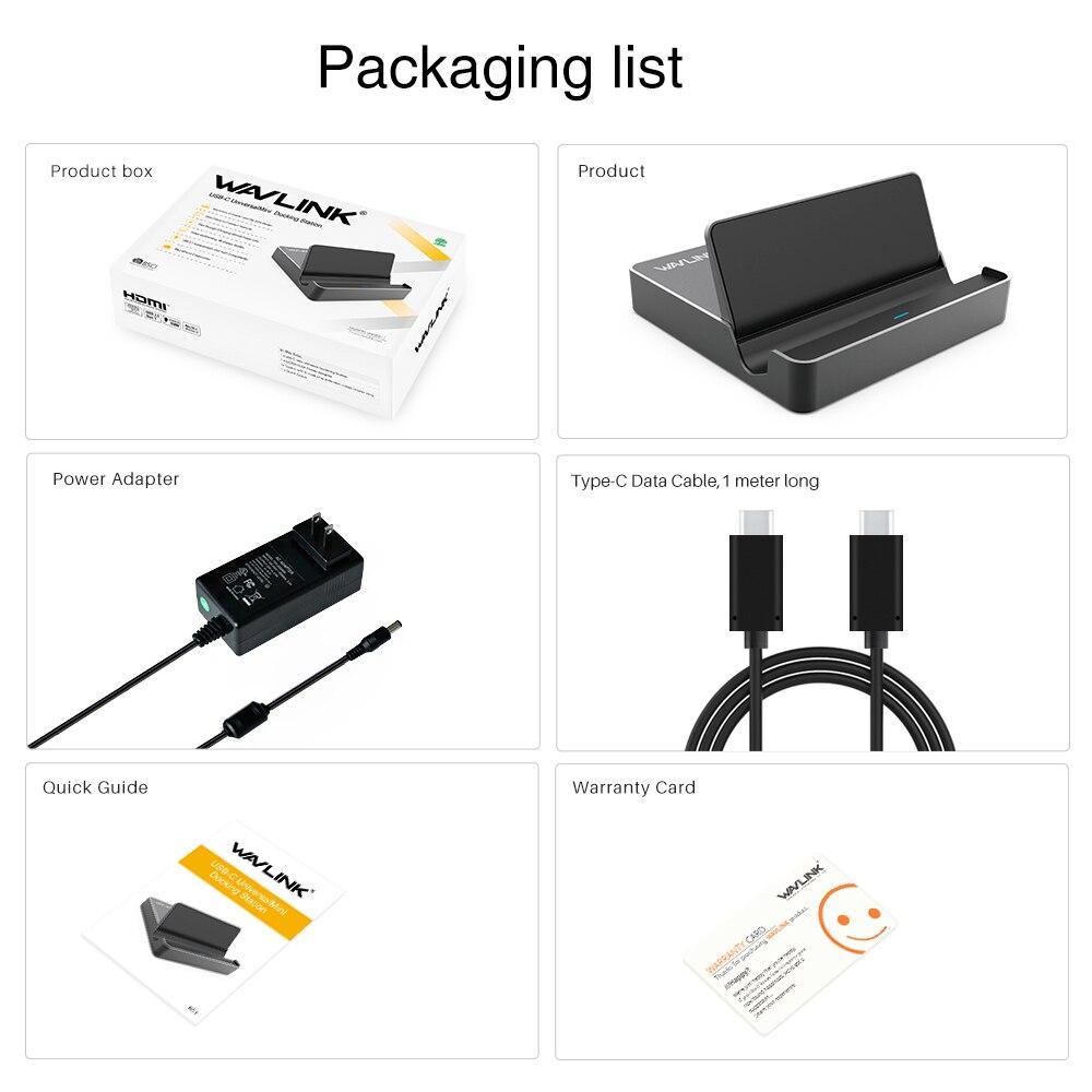 Wavlink Mini USB3.1 Universal USB док станциясы - Ноутбуктердің аксессуарлары - фото 6