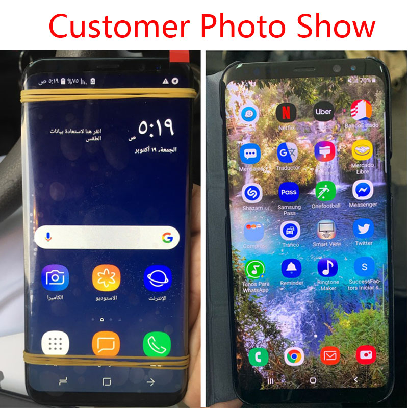Original LCD For Samsung Galaxy S8 Lcd Display S8 plus G950 G950F G955fd G955F G955 With Original LCD For Samsung Galaxy S8 Lcd Display S8 plus G950 G950F G955fd G955F G955 With Burn Shadow With Touch Screen Digitize
