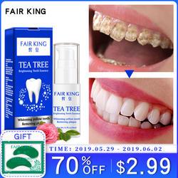 Чай дерево отбеливание зубов пудра с эссенцией гигиена полости рта Очищающая сыворотка удаляет доска пятна Отбеливание зубов зубные