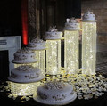 FREE Shippping 6PCS/LOT  Wedding  Crystal Cake Stand