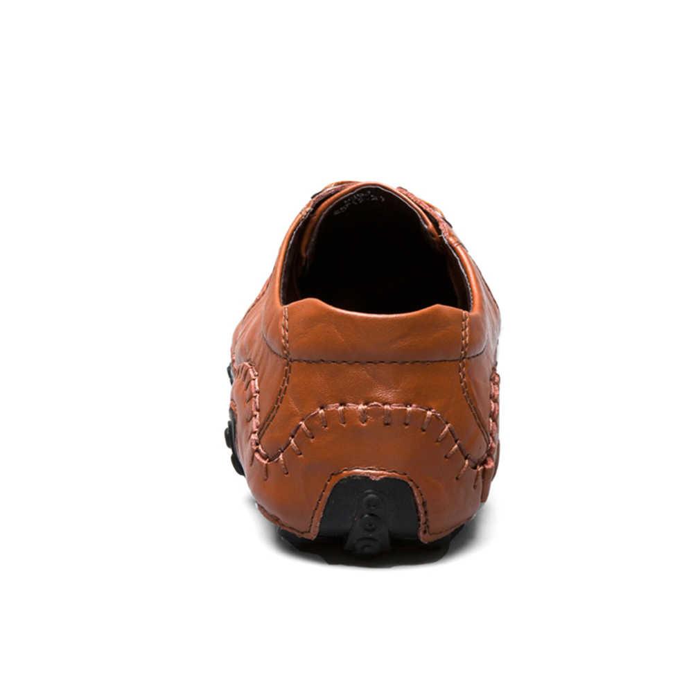 Big Size Mannen Mocassins Luxe Merk Loafers Lederen schoeisel causale mannen schoenen designer sneakers mannelijke zwarte schoenen Volwassen