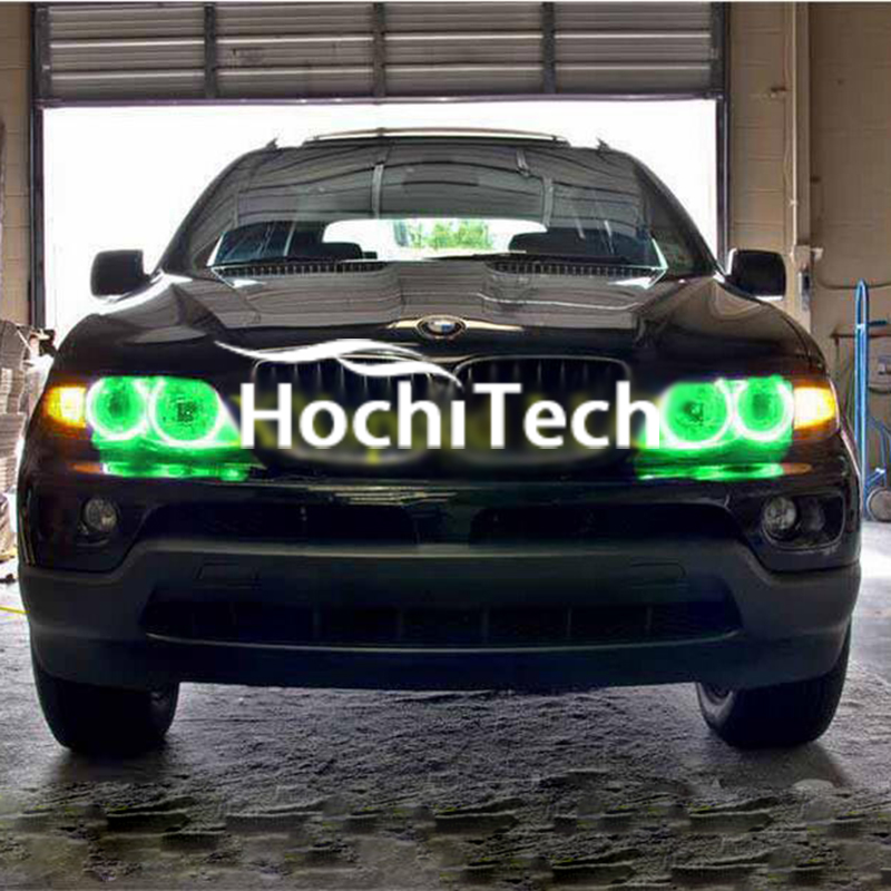 Super bright LED angel eyes for 2000-2006 BMW X5 LED Halo Rings Headlights Bulbs LED Halo Rings daytime running light super bright led angel eyes for bmw x5 2000 to 2006 color shift headlight halo angel demon eyes rings kit