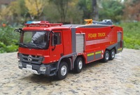 Collectible Alloy Model Toy Gift 1:50 Benz ACTROS Jieda Foam City Fire Truck City Rescue Vehicles Diecast Toy Model Decoration