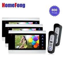 Homefong Video Doorbell Intercom Door Phone System 7 Inch 2V3 SD Card Supported  Door Entry Security System  Doorphone Monitor