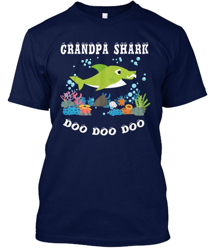 Grandpa Shark Do Doo Popular Tagless Tee T Shirt-in T ...