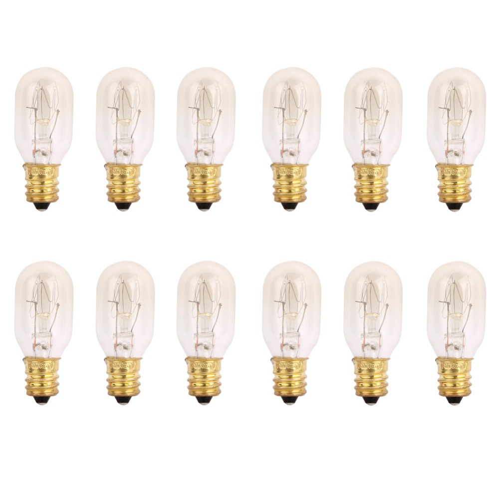 120V 25 Watt Himalayan Salt Lamp Light Bulbs Incandescent Replacement Bulbs E12 Socket-12Pack