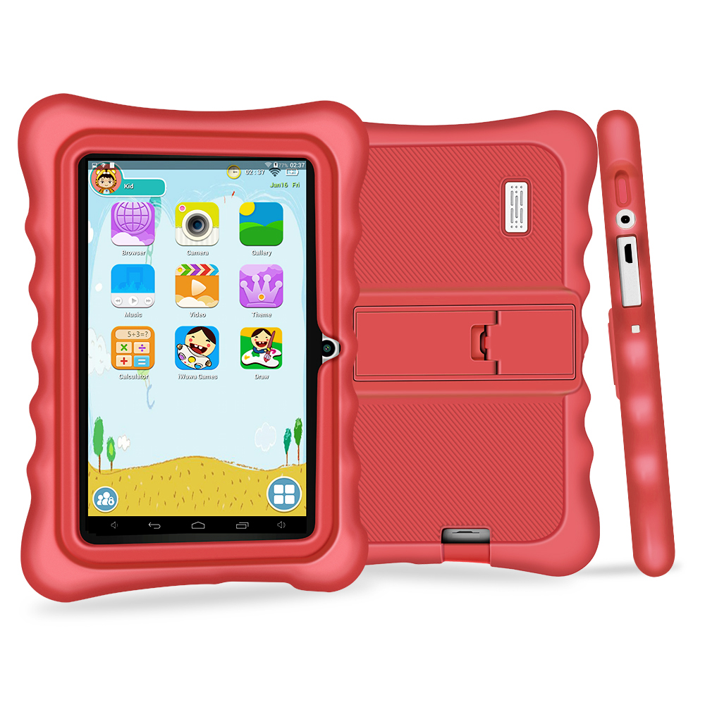 Yuntab 7 Q88H Quad Core touch screen Tablet PC load Iwawa kid software 3D-Game bluetooth Kids Tablet  with Chic stand Case(red)Yuntab 7 Q88H Quad Core touch screen Tablet PC load Iwawa kid software 3D-Game bluetooth Kids Tablet  with Chic stand Case(red)