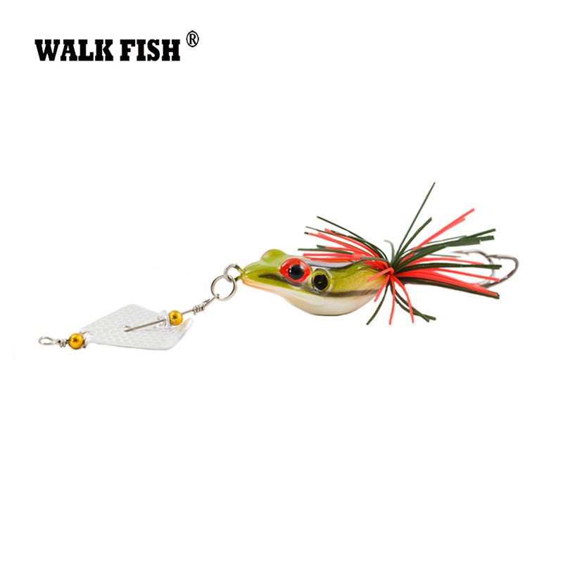 Walk Fish 1Pcs 14cm 11g New Large Frog Topwater Fishing Lure Crankbait Hooks Bass Bait Tackle Fishing Lures HH005 new bass floating frog topwater fish fishing lure bait hooks tackle 60mm 9g