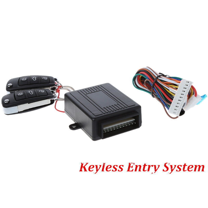 Universal Car Auto Keyless Entry System Button Start Stop LED Keychain Central Kit Door Lock with Remote Control pke smart car alarm system is with passive auto lock or unlock car door keyless go push button start stop remote start stop