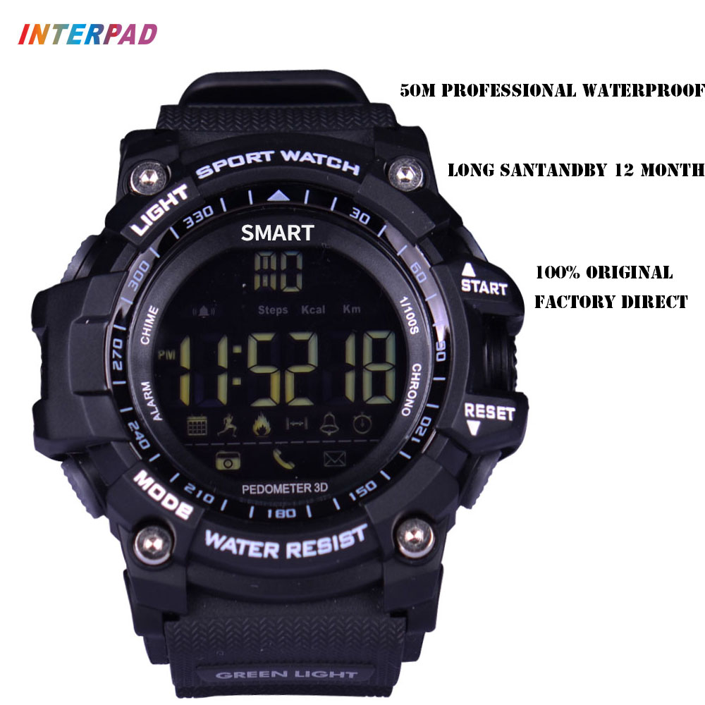 Newest Interpad Smart Watch Bluetooth Fitness Tracker 50m Professional Waterproof Smart watch Long Standby Time For iOS Android