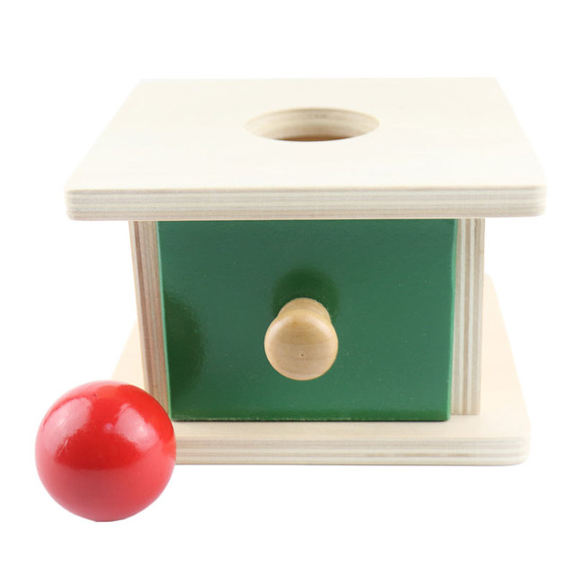 Wooden Montessori Toys Baby Wooden Ball Matching Box Learning Wooden Toys Montessori Materials Preschool Sensorial VFB1145T