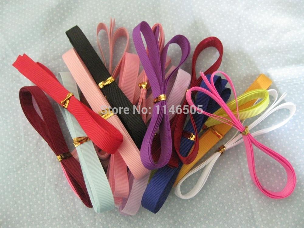 30pcs 3/8 Mix Colors Random Style Colorful Grosgrain Wedding Party Deco Craft Festive satin ribbon Bows /frozen ribbon