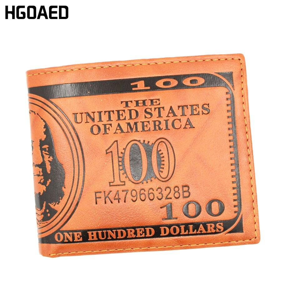 Precio del dólar Hombres Carteras de Cuero de LA PU Billeteras con - Monederos y carteras