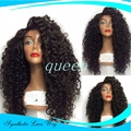Synthetic Wigs Afro Kinky Curly 6A 150Density Synthetic Lace Front Wigs Curly Hair Lace front Wigs Kinky Hair Wig With Baby Hair