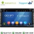 Quad Core 16 ГБ 2Din Android 5.1.1 Универсальный Автомобильный Dvd-видео Плеер радио Стерео FM-РАДИО DAB + 3 Г/4 Г WI-FI GPS Карты Для Nissan murano солнечный