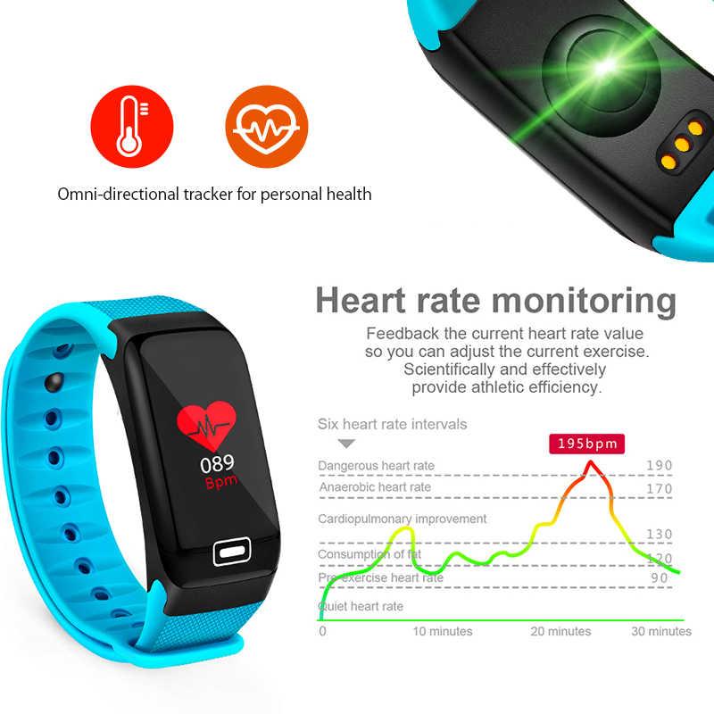 BANGWEI 2019 新規スマート腕時計フィットネストラッカー心拍数血圧酸素モニター IP68 防水スマートウォッチの男性女性 + ボックス