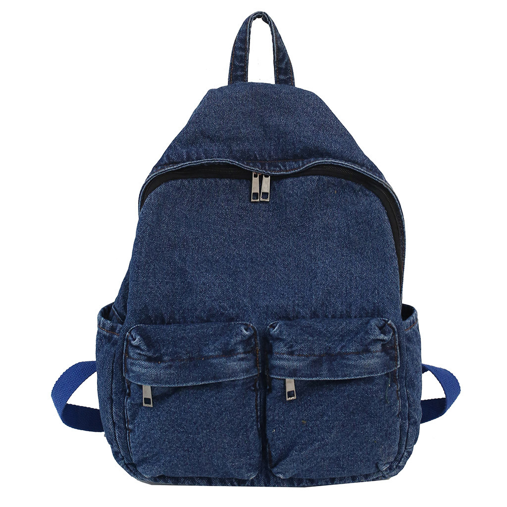 Fashion Women Backpack for School Teenagers Girls Vintage Stylish School Bag Ladies Denim Backpack Female Bookbag Mochila 621W(China)