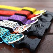 Pet Flash Light LED Neck Piece Dog Leopard Nylon Safety Collar