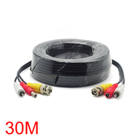 30M/98FT Cable BNC RCA DC Connector Video Audio Power Wire For CCTV Camera