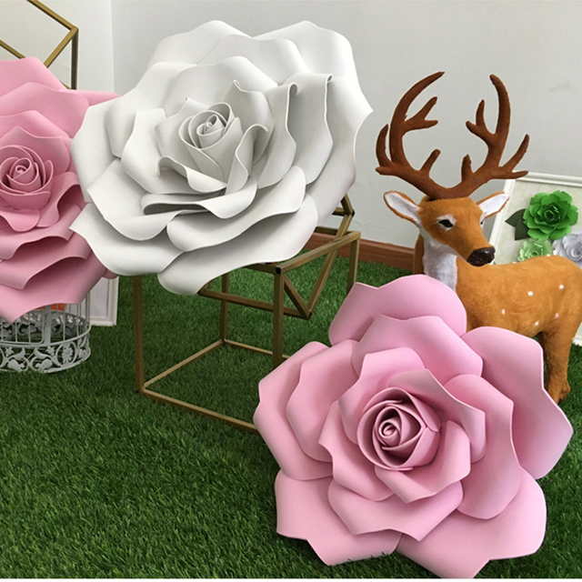 how to make giant foam flowers